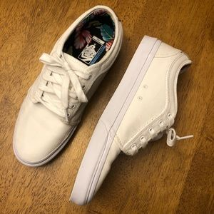 Vans White Skateboarding Shoes - mens 11
